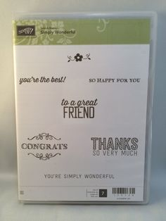 Simply Wonderful stamp set by Stampin Up. by catscardsandcoffee on Etsy