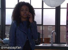 I'm a Soap Fan: Jordan Ashford's Blue Moto Jacket - General Hospital, Season 53, Episode 16, 04/22/15 #GH #GeneralHospital