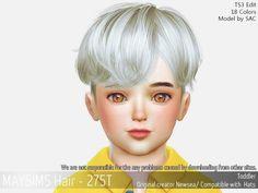 Hair (Newsea) - The Sims 4 Catalog Sims 4 Hair Male, Sims Hair, Sims 4 Game Mods, Sims Mods, The Sims 4 Pc, Sims Cc, Toddler Hair Sims 4, Sims 4 Children, 4 Kids
