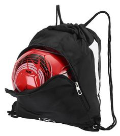 Outside zippered ball compartment fits full size ball. Inside roomy compartment with draw string closure. Tote your gear to practice or the gym. Perfect size for young players too small for a backpack Backpack Brands, Travel Backpack, Soccer Accessories, Cool Backpacks, Kids Sports, Duffel Bag, Drawstring Backpack, Red And Blue, Gym Bag