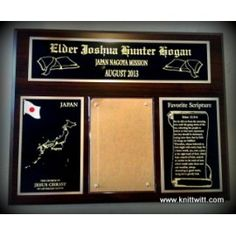 """LDS Missionary Plaques - E, Japan Mission - Use promo code """"PINTEREST"""" for 50% off your order!"""
