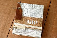 New travel book inspiration mini albums Ideas Scrapbook Journal, Mini Scrapbook Albums, Travel Scrapbook, Handmade Journals, Handmade Books, Cork, Travel Album, Album Book, Scrapbooking
