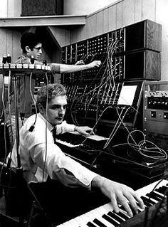 So glad that music studios grew up with technology, too! Photo - Robert Moog  - http://www.pinterest.com/claxtonw/music-studio-stuff/
