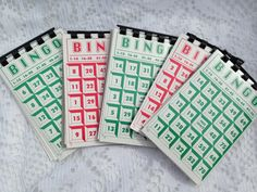 upcycled recycled Bingo Card journal / notebook by AboveParrCrafts