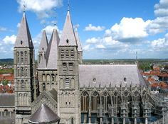 Notre-Dame Cathedral in Tournai Belgium UNESCO