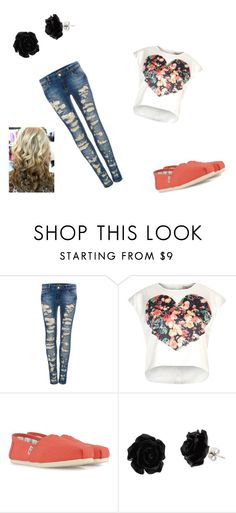 """""""Untitled #76"""" by kiki-98 ❤ liked on Polyvore featuring beauty, Pull&Bear, Cameo Rose and TOMS"""