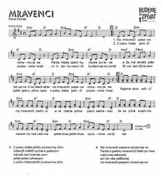 Na mravenci pasece Music Notes, Sheet Music, Crafts For Kids, Preschool, Classroom, Songs, How To Plan, Education, Wicker