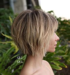 Sliced Tousled Bob with Bangs #shorthaircutswithbangs
