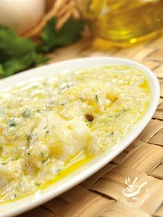 Vicenza-style cod (with onions) - Il Baccalà alla vicentina Fish Recipes, Seafood Recipes, Cooking Recipes, Healthy Recipes, Big Meals, Easy Meals, Beef Tagine, Tuscan Bean Soup, Greek Cooking