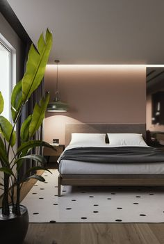 Modern Platform Bed: Mid Century Modern Bedroom, wooden bed, bedroom decorating ideas, modern bedroom designs #Modern #Bedroom #Mid_Century