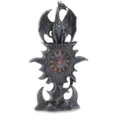 Black Dragon Mantel Clock