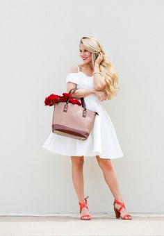 See and shop Olivia's little white dress on LaurenConrad.com
