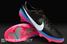 Nike Football Boots - Nike Mercurial Vapor VIII CR FG - Firm Ground - Soccer Cleats - Black-White-Pink-Blue