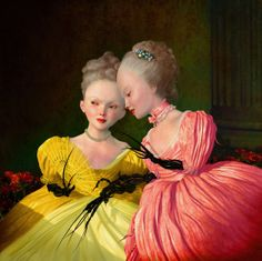 SISTERS Ray Caesar (b1958 London; based in Toronto, Canada)   'I think each of us makes a heaven or hell on this Earth, and the material we use is the stuff our lives are made of'... ~R.Caesar