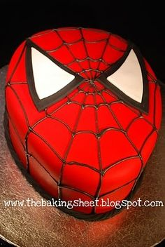 Great looking spiderman cake! Wish I could make this for his birthday! I'm not so good at these!