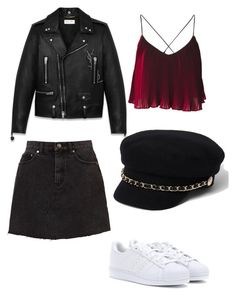 """Fall outfit #3"" by karinstyleonly on Polyvore featuring adidas, Yves Saint Laurent and River Island"