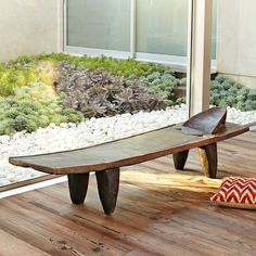 Senufo Bench. Part of @west elm's South African collection - in conjunction with @ELLE DECOR.