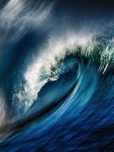 surfsouthafrica:  Breaking wave lights up. Photo: Matthew Clark