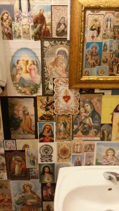 Saints and bathroom