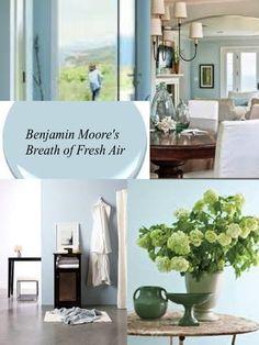 Benjamin Moore Blue Stream Final Choice A Soft Powdery