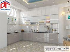 tủ bếp gỗ cao cấp kc151