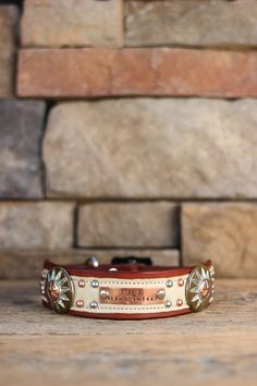 The Tajique Leather Dog Collar