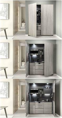 Mini cuisine portes pliantes zeus mini cuisine for Meuble zeus