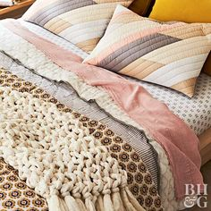Cozy Up with These Beautiful Bedding Ideas Matching Bedding And Curtains, Bed Curtains, Crib Bedding Sets, Comforter, Blue And Grey Bedding, White Coverlet, Best Bed Sheets, Natural Bedding, Luxury Bedding Collections