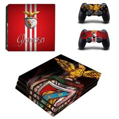 S.L. Benfica Ps4 pro edition skin decal for console and controllers