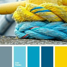 Color palette No. 659 color palette No. Blue Colour Palette, Colour Schemes, Color Combos, Paint Combinations, Color Azul, Gray Color, Bathroom Colors, Bathroom Yellow, Bathroom Ideas