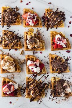 Super crisp on the outside perfectly moist light fluffy on the inside. My Perfect Gluten Free Waffles only take 2 min to whip up! Waffle Pops, Waffle Bar, Waffle Toppings, Tortas Low Carb, Waffle Recipes, Freezer Recipes, Freezer Cooking, Meal Recipes, Cooking Tips