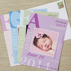 AWWWW! These Birth Announcements are so beautiful!!! LOVE the color options!