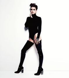 Ruby kills it at the best of times, but this is just another level of badassery.   Ruby Rose Looks So Goddamn Good In GQ Australia It Hurts