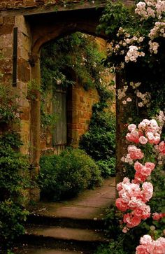 Roses Gardening Secret Garden Cottage Landscape/Yard - Found on Zillow Digs - The Secret Garden, Secret Gardens, Garden Cottage, Rose Cottage, Parcs, Garden Gates, Garden Entrance, Garden Archway, Walkway Garden