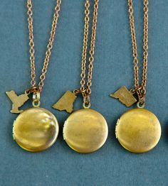 New York - Custom Brass State Charm & Locket Necklace | Jewelry Necklaces | Larissa Loden | Scoutmob Shoppe | Product Detail