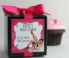 Between the Sheets...One Dozen Personalized Cupcake Mix Bachelorette Party Favors on Etsy, $40.00
