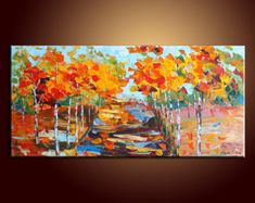 Abstract Painting Landscape Painting Impasto by QiQiGallery