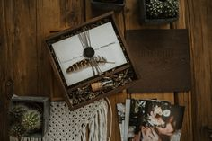Wooden Banana box in the hands of Vicky Baumann. Beautiful photography packaging by one of the best wedding photographers in Germany.