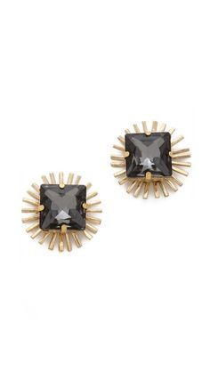 Holst + Lee Crystal Stud Earrings | I'd like these better if they were smaller...