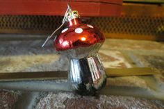vintage mushroom christmas ornament by MyVintageAngels on Etsy, $18.00