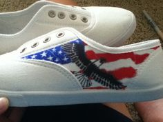 Draw on white canvas shoes with sharpies!