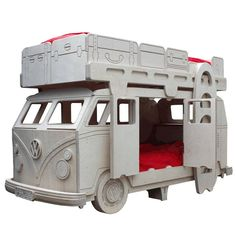 VW Camper Van Themed Bunk Bed by Fun Furniture Collection, Home of Themed Childrens Beds,Toy Boxes and Storage Childrens Bunk Beds, Kids Bunk Beds, Metal Bunk Beds, Bunk Beds With Stairs, Volkswagen, Combi Ww, Bunk Bed Designs, Vans Kids, Cool Beds