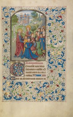 Saints Peter and John Baptizing the Samarians; Willem Vrelant (Flemish, died 1481, active 1454 - 1481); Bruges, Belgium; early 1460s; Tempera colors, gold leaf, and ink on parchment; Leaf: 25.6 x 17.3 cm (10 1/16 x 6 13/16 in.); Ms. Ludwig IX 8, fol. 30; J. Paul Getty Museum, Los Angeles, California