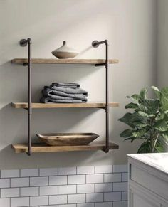 online shopping for Kennard 3 Tier Wall Shelf Greyleigh from top store. See new offer for Kennard 3 Tier Wall Shelf Greyleigh Industrial Wall Shelves, Glass Wall Shelves, Solid Wood Shelves, Wood Wall Shelf, Wood Floating Shelves, Cube Shelves, Wall Mounted Shelves, Wooden Shelves, Display Shelves