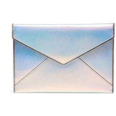Rebecca Minkoff Handbags Opal Leo Clutch (375 MXN) ❤ liked on Polyvore featuring bags, handbags, clutches, accessories, bolsa, purses, rebecca minkoff purse, blue clutches, handbags clutches and blue hand bag