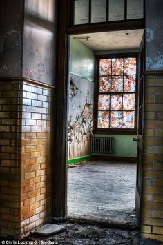 Holley High School (NY, USA) - A doorway into one of the classrooms