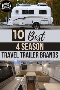 Best Travel Trailers, Travel Trailer Living, Small Camper Trailers, Travel Trailer Camping, Travel Trailer Remodel, Small Trailer, Small Campers, Rv Trailers, Camping Life