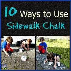 Sneak in some learning this summer with sidewalk chalk activities, fun!