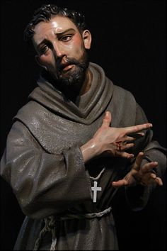 Francis Of Assisi, St Francis, Santa Clara, La Sainte Bible, St Clare's, Religious Paintings, Heart Of Jesus, Religious Images, Sacred Art