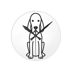 Customizable Dog clocks from Zazzle. Choose a pre-existing design for your wall clock or create your own today! Redbone Coonhound, Cartoon Dog, Create Yourself, Clock, Dogs, Watch, Pet Dogs, Clocks, Doggies